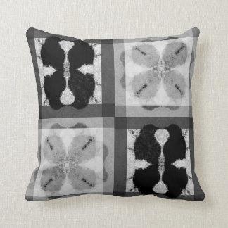 Blackbird Blockprint Batik Throw Pillow