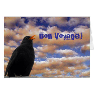 Blackbird Bon Voyage card