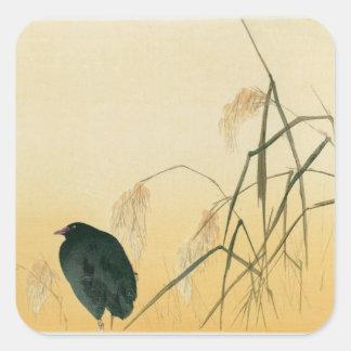 Blackbird, Edo Period Square Sticker
