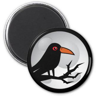 Blackbird Goth Raven/Crow 2 Inch Round Magnet