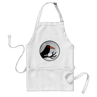 Blackbird Goth Raven/Crow Adult Apron