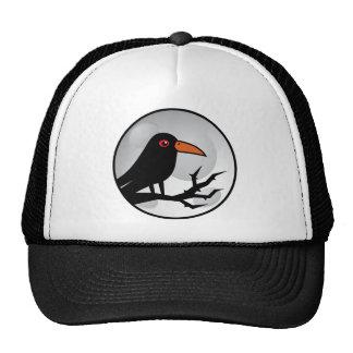 Blackbird Goth Raven/Crow Mesh Hat