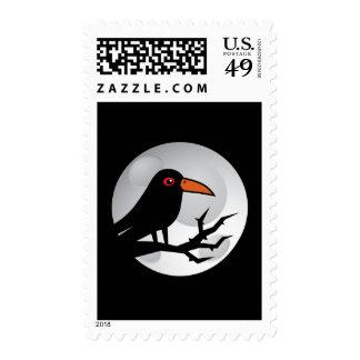 Blackbird Goth Raven/Crow Postage Stamps
