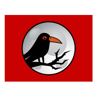 Blackbird Goth Raven/Crow Postcard