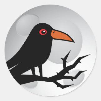 Blackbird Goth Raven/Crow Round Sticker