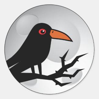 Blackbird Goth Raven/Crow Round Stickers