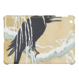 Blackbird in Snow, Ikeda Koson iPad Mini Cases