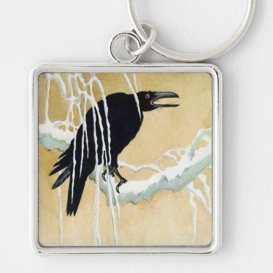 Blackbird in Snow, Ikeda Koson Keychain
