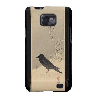 Blackbird in Snow Mate Case Galaxy S2 Covers