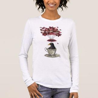 Blackbird In Teacup Long Sleeve T-Shirt