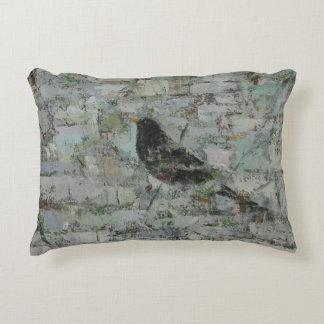 Blackbird in Tree Accent Pillow