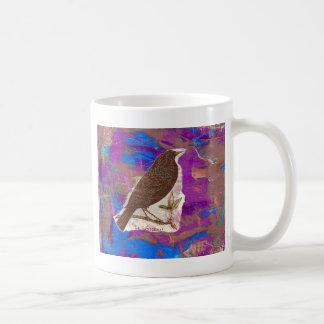 Blackbird Mixed Media Collage Coffee Mug