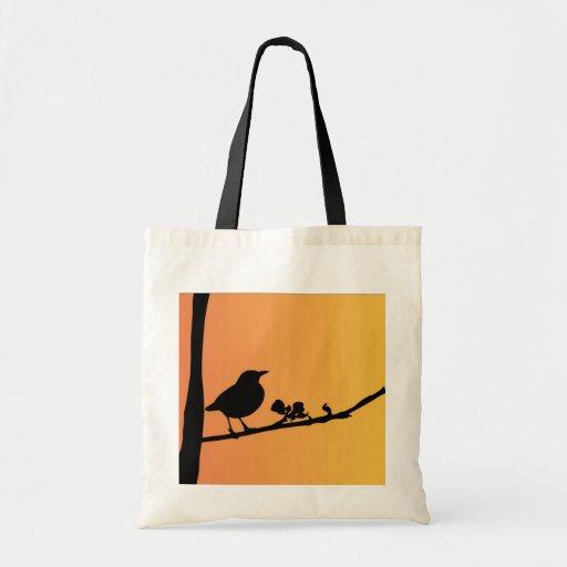 Blackbird Silhouette Tote Bags
