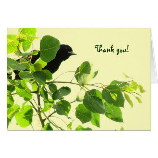 Blackbird Thank You Stationery Note Card