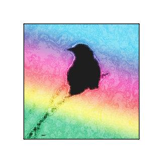 Blackbird w/Rainbow Canvas Print