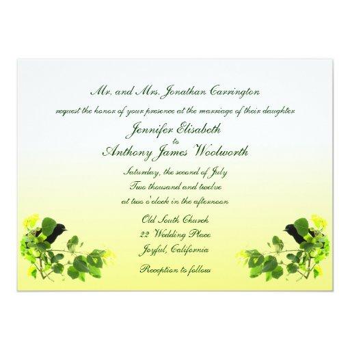 Blackbird Wedding Card