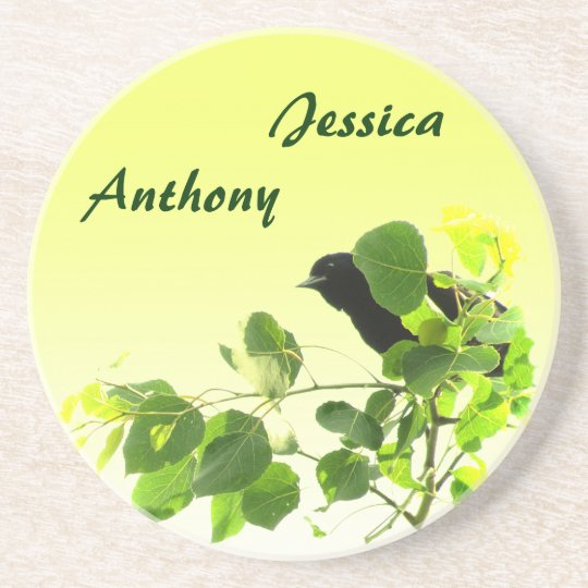 Blackbird Wedding Coaster