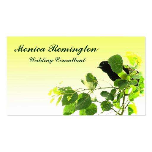 Blackbird Wedding Consultant Business Cards