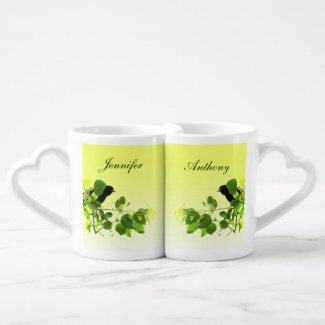 Blackbird Wedding Lovers Mugs