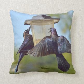 Blackbirds Grackles Birds Spiegeland Pillow