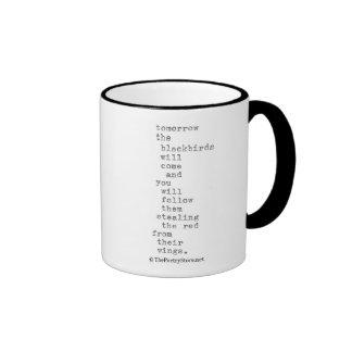 blackbirds ringer coffee mug