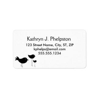 Blackbirds Silhouette Address Label