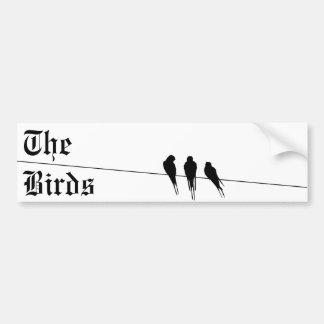 Blackbirds Silhouette on Wire Bumper Sticker