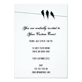 Blackbirds Silhouette on Wire Card