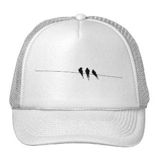 Blackbirds Silhouette on Wire Mesh Hats
