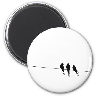 Blackbirds Silhouette on Wire Magnet