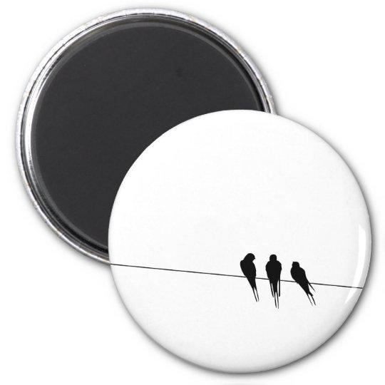 Blackbirds Silhouette on Wire Magnet