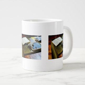 Blackboard and Book Large Coffee Mug