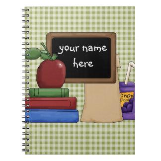 Blackboard and Books Spiral Notebook