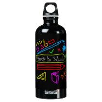 Blackboard Back To School Aluminum Water Bottle
