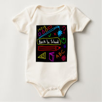 Blackboard Back To School Baby Bodysuit