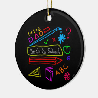 Blackboard Back To School Ceramic Ornament