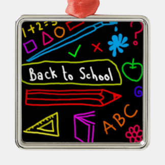 Blackboard Back To School Metal Ornament