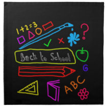 Blackboard Back To School Napkin