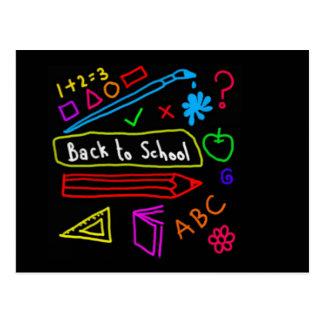 Blackboard Back To School Postcard