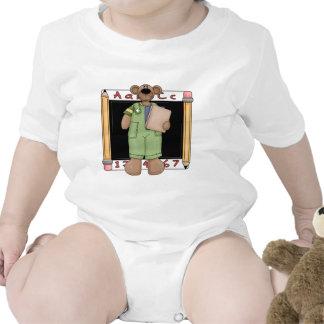 Blackboard Bear Boy Baby Bodysuits