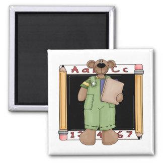 Blackboard Bear Boy Magnet