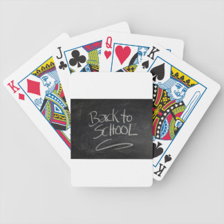 Blackboard Bicycle Playing Cards