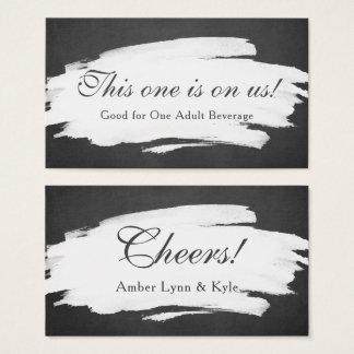 Blackboard & Brushstrokes w/ Script, Drink Tickets