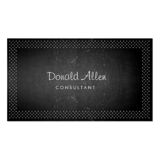 Blackboard Chalk Retro Slate Professional Dotted Double-Sided Standard Business Cards (Pack Of 100)
