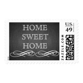 Blackboard Chalkboard Home Sweet Home Postage