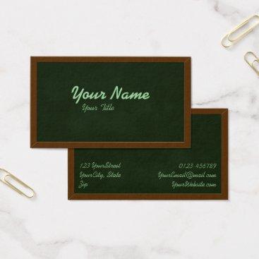 Professional Business Blackboard Chalkboard Teacher School Business Card