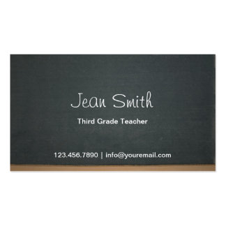Blackboard Elementary School Teacher Business Card