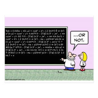 blackboard formulae scientist math postcard