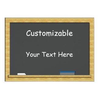 Blackboard Greeting - Custom, Blank Back Card