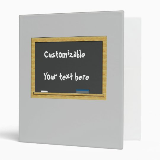 Blackboard Greeting - Customizable Binder